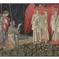 The Holy Grail II The Vision Left Panel European Wall Hangings
