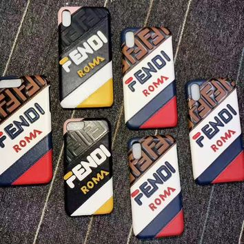 FENDI sells hot fashion ladies sewing logo matching iPhone case