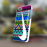 Nike Just Do It on Aztec - Personalized Case for iPhone 4/4s, 5, 5s, 5c, Samsung S3, S4, S3, S4 mini Pastic and Rubber Case.
