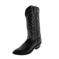 Justin Boots Mens Leather Embroidered Cowboy, Western Boots