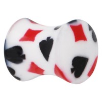 0 Gauge Playing Card Symbol Saddle Plug