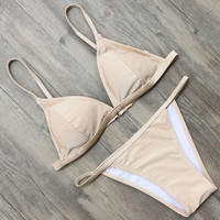 New Arrival Bikini Set Women Swimwear Solid Color