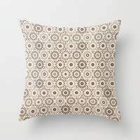 Colored circles Throw Pillow by Tony Vazquez