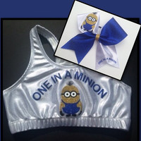 Minion Sports Bra and bow combo or choose only sports bra or only bow
