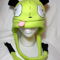 Invader Zim Inspired Gir Dog Fleece Hat -MADE TO ORDER-