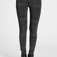 Element Aztec Print Charcoal Leggings by Gentle Fawn - $46.00: ThreadSence, Women's Indie & Bohemian Clothing, Dresses, & Accessories
