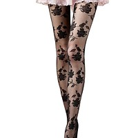 Amazing Spring Summer Rose Sexy Fashion Women Girls Sheer Footed Tights Pantyhose