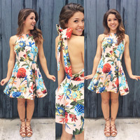 A Tropical Party Dress in Blush