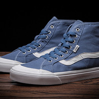 Vans man and woman classic summer shell- toe high top blue & White