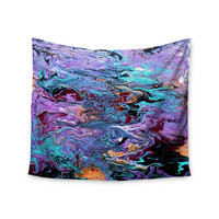 "Claire Day ""Lola"" Purple Paint Wall Tapestry"