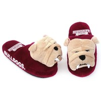 Mississippi State Bulldogs Mascot Slippers - Youth (Red)