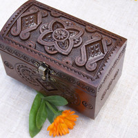Jewelry wooden box Ring box Wood box Wood carwing Carved wooden box boxes Ring Wedding box Jewellery box Ring medieval jewelry boxes B54
