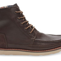 CHOCOLATE BROWN FULL GRAIN LEATHER MEN'S SEARCHER BOOTS