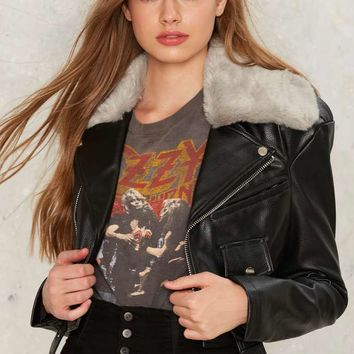 Ride It Out Vegan Leather Moto Jacket