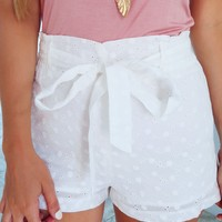 Perfect Life Shorts: White