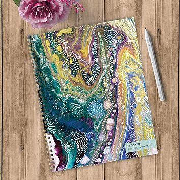 July 2021-June 2022 Geode Kiss Large Daily Weekly Monthly Planner + Coordinating Planning Stickers