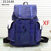 LV Backpack Louis Vuitton Big Bag Splicing Color Bag B-WMXB-PFSH Blue