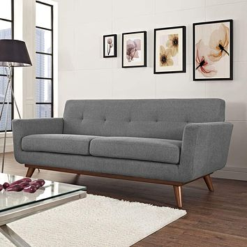 Engage Upholstered Loveseat Expectation Gray
