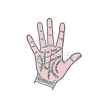 Palmistry Hand Waterproof Temporary Tattoos Lasts 3 to 4 days Choose Small, Medium or Large
