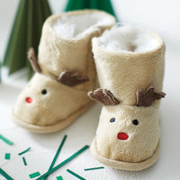 Personalised Reindeer Baby Booties