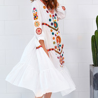 Cupshe Private Party Embroidered Casual Dress