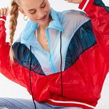UO Colorblock Pullover Windbreaker Jacket | Urban Outfitters