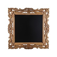 French Picture Frame Chalkboard in Natural Mango