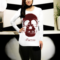 SALE: Modal-Fine Jersey L/S Top feat. Life in Death - Small