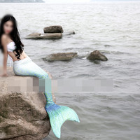 mermaid-tail Cosplay with swim fins