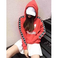 "MM Fashion ""Adidas"" Print Hooded Pullover Tops Sweater Sweatshirts [11516584908]"