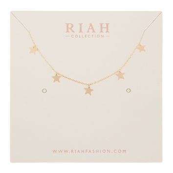 Five Dainty Small Star Necklace