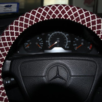 Burgundy and beige steering Wheel Cover.Moroccan Wheel Cover.