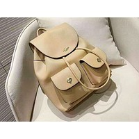 Coach fashion casual women plain color simple backpack