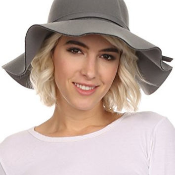 Sakkas F2172 - Cruz Womens Wide Brimmed Floppy Hat With Knotted Band - Gray - OS