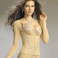 Waist Sexy Shaper Body Skinny Long Sleeve Slim Corset [4965284420]