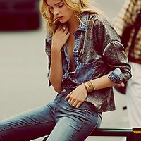Free People  Center Front Paisley Buttondown at Free People Clothing Boutique