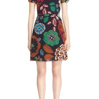 Burberry 'Sam' Floral Print Mulberry Silk Dress | Nordstrom