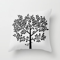 Tree Graphic 2 Throw Pillow by Mareike Böhmer Graphics