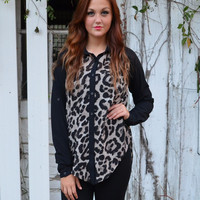 Wild Thing Leopard Collared Blouse