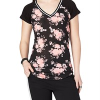 Soft Knit Floral Athletic Tee