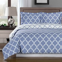 Meridian Periwinkle 100% Combed cotton Duvet Cover Set