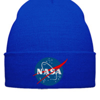 Nasa embroidery - Beanie Cuffed Knit Cap
