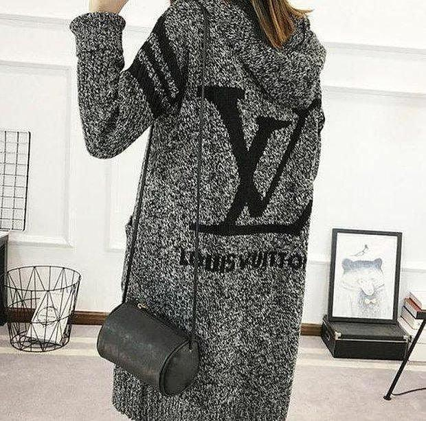 Image of LV Louis Vuitton Hooded Sweater Knit Cardigan Jacket Coat