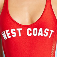 West Coast Graphic One-Piece