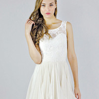 Sleeveless Lace Wedding Separate - Clementine Top