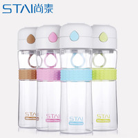 580ml Leak-Proof water bottle Transparent Large Capacity tumbler Drinking Water Bottle For Outdoor My Sports bottles Juice Cup