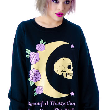 Jac Vanek Beautiful Things Crew Sweatshirt Black
