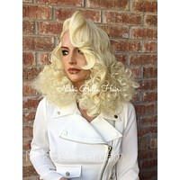 """Paisley Vintage Style light blonde lace front wig 14"""""""