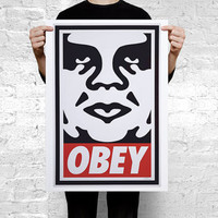 OBEY Large Poster A2 594 x 420 mm 23.4 x 16.5 in
