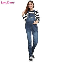 New 4XL Maternity Jeans For Pregnant Women Maternity Bib Pants Women Clothing Winter Warm Jeans Pants Maternity Clothes Trousers